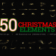 Christmas Elements - 50Clips 4K - VideoHive Item for Sale