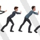 Businessman Pushing Invisible Wall (4-Pack) - VideoHive Item for Sale
