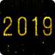 Year 2019 - Shiny Golden Glitter with Transparency - VideoHive Item for Sale