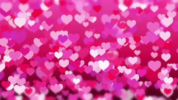 happy valentines hearts background by frender