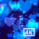 Blue Hearts Background 4K - VideoHive Item for Sale
