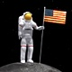 Astronaut Moon Flag - VideoHive Item for Sale