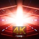 Glowing Red Light Space Station Tunnel 4K - VideoHive Item for Sale