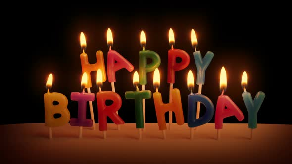 Happy Birthday Candles On Cake In The Dark by RockfordMedia | VideoHive
