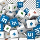 Social Media Icons Transition - Linkedin and Reactions - VideoHive Item for Sale