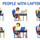 People Work With Laptop  Remotely - VideoHive Item for Sale