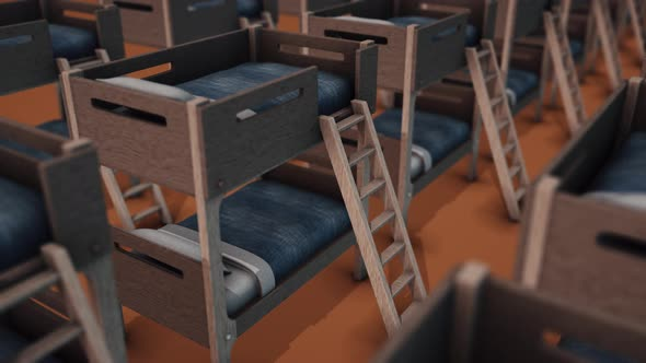A Lot Of Bunk Beds In A Row 4k By 2ragon Videohive