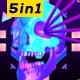 Disco Skull - VideoHive Item for Sale