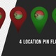 Vanuatu Flag Location Pins Red And Green - VideoHive Item for Sale