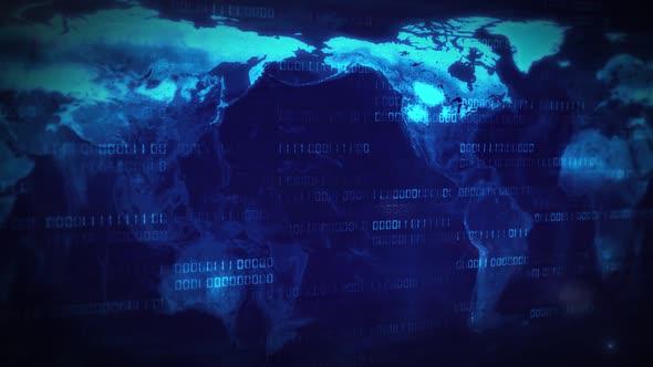 Digital World Map Loop By Frender Videohive