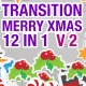 Transition Merry Christmas 12 in 1 Version 2 - VideoHive Item for Sale
