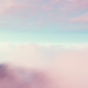 Flying Through White Pink Clouds In Blue Sky And Ocean - VideoHive Item for Sale