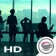 A Team Of Traders In Front Of Infographics HD - VideoHive Item for Sale