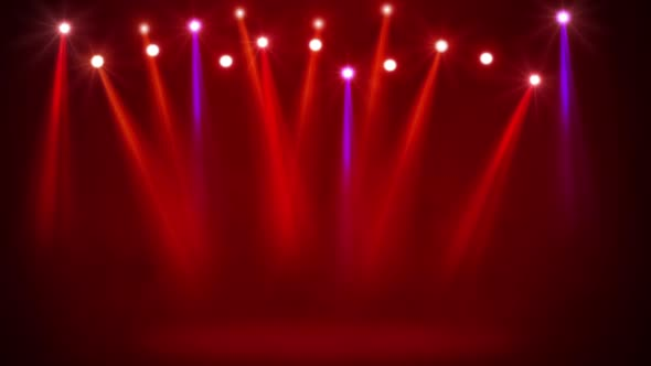 Red Stage Lights By Thehivestudio Videohive