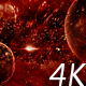 Abstract Dark Red Space Scene with Planets and Asteroids - VideoHive Item for Sale