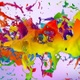 Multicolored Paint Splashes Collide - VideoHive Item for Sale