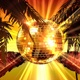Disco Ball On Palms Background - VideoHive Item for Sale