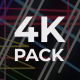 Colorful Lines 4k VJ Loops Pack - VideoHive Item for Sale