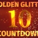 Golden Glitter Countdown 10 Seconds - VideoHive Item for Sale