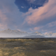 Pink Clouds Yellow Waves Mountains And Fog - VideoHive Item for Sale