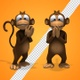 Cartoon Monkey 3d Charater - Clapping Applause (2-Pack) - VideoHive Item for Sale