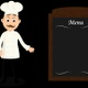 Chef Presenting The Menu Of The Day Cartoon - VideoHive Item for Sale