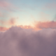 Flying Through Purple Gray Orange Clouds In The Sky - VideoHive Item for Sale