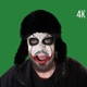 Clown Screams On Green Screen - VideoHive Item for Sale
