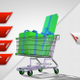 Shopping Cart With Gift Boxes Front View - VideoHive Item for Sale