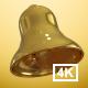 Golden Animated Bell 4K