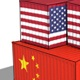 United States And China Cargo Container. Trade War Concept - VideoHive Item for Sale