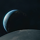 Space Scene with Moon and Earth - VideoHive Item for Sale