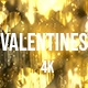 Golden Valentines Heart Background  - VideoHive Item for Sale