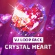 Crystal Heart Vj Loop Pack - VideoHive Item for Sale