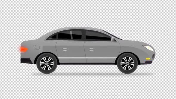 Cartoon Car Gray By Lakmalvfx Videohive