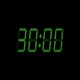 30 Second Digital Countdown Display Green 4K - VideoHive Item for Sale