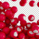Red falling balls with white hearts with Alpha - VideoHive Item for Sale