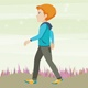 Boy Walk Cartoon - VideoHive Item for Sale