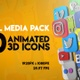 Social Media Icon Pack 3D  - VideoHive Item for Sale