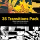 35 Brush Transitions Reveal Pack - VideoHive Item for Sale