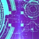 Flying Through   Digital Hi Tech Network Sci-Fi Cyber Tunnel Loop Background - VideoHive Item for Sale