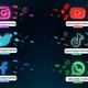 Neon Social Media Lower Thirds - VideoHive Item for Sale