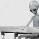 Alien Playing Electronic Piano Medium Close Up Shot - VideoHive Item for Sale