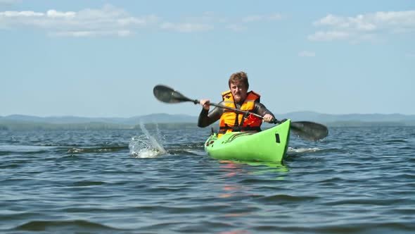 Practice of Amateur Kayaker