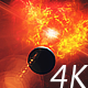 Red and Yellow Nebula with Planet and Star Shine in Outer Space - VideoHive Item for Sale