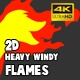 2D Heavy Windy Flames - VideoHive Item for Sale