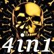 Golden Skull - VJ Loop Pack (4in1) - VideoHive Item for Sale