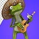 Frog In Sombrero With A Guitar (2 Pack) - VideoHive Item for Sale