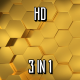 Gold Hexagons - VideoHive Item for Sale