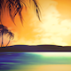 Silhouette of Tropical Island at Sunset - VideoHive Item for Sale